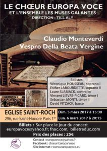 Concert EUROPAVOCE Mars 2017